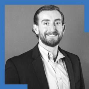 Black and white image of Alex Folger, a CPA at Brantley Janson.